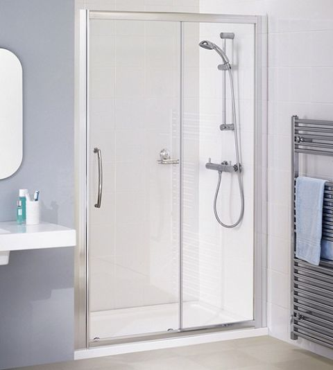 Lakes Semi Frameless 1600mm Slider Shower Door